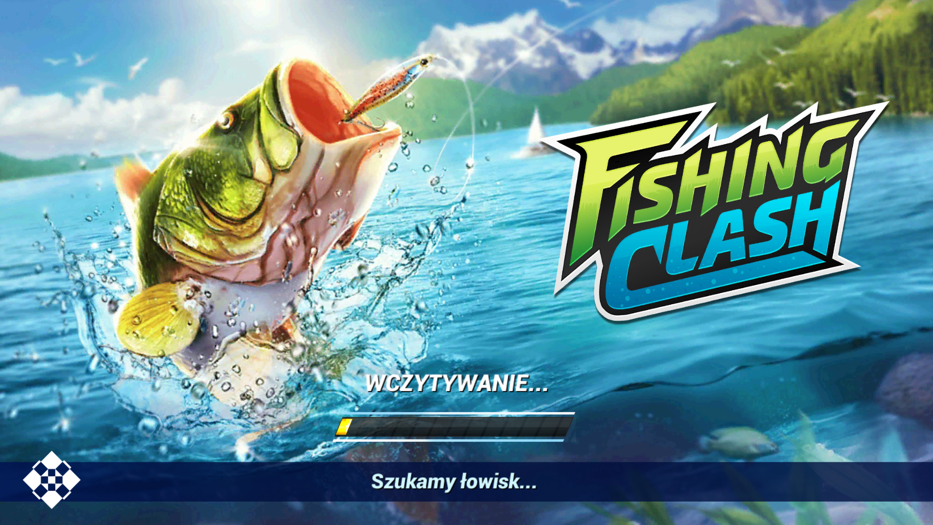 fishingclash - ilustracja ekranu startowego