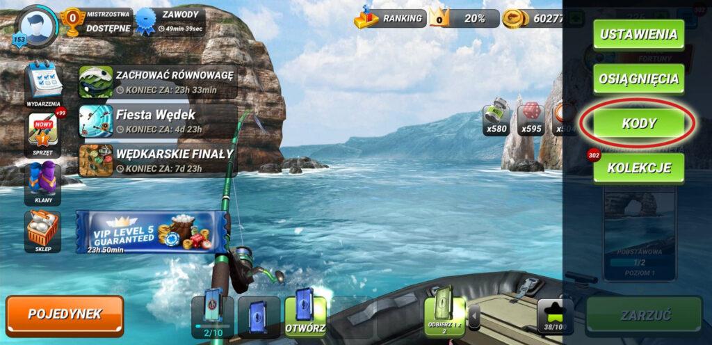 fishing clash - kod podarunkowy