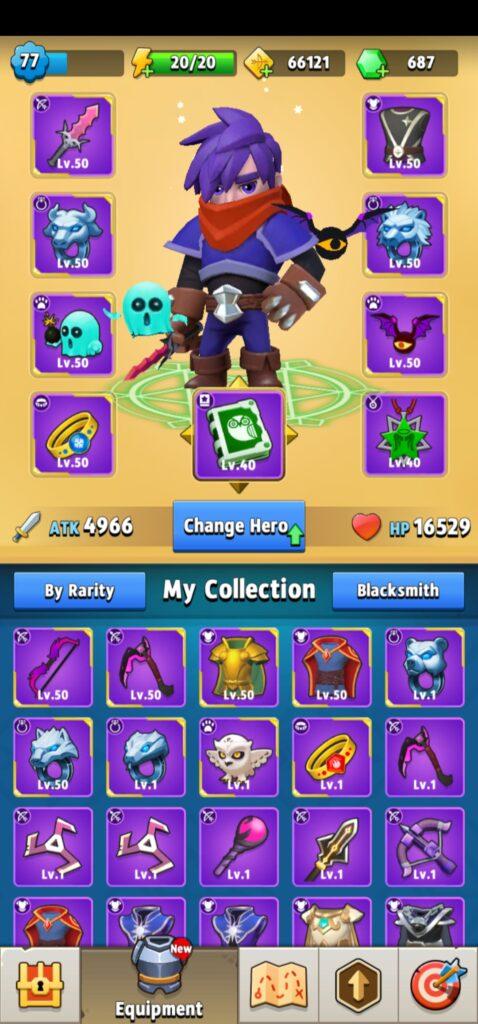 Karta postaci - Archero