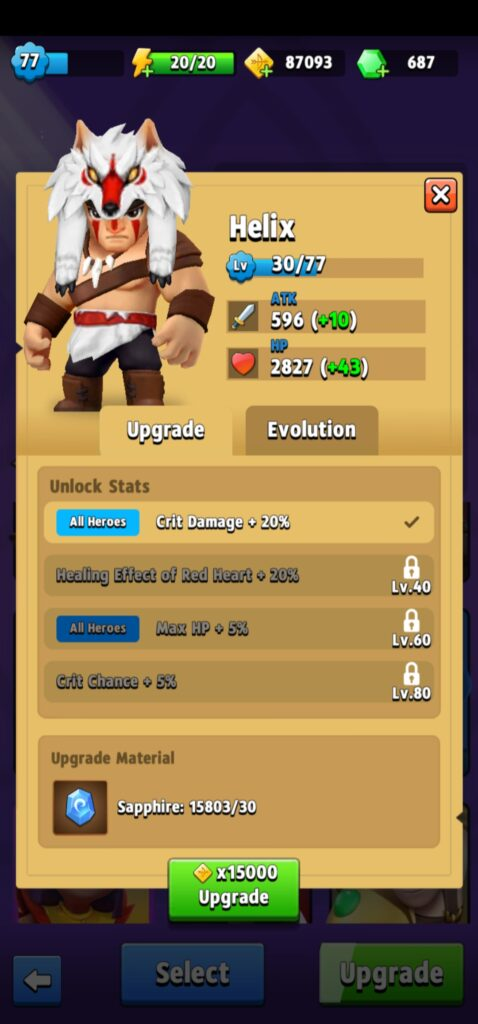 Helix upgrade skills
